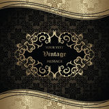 Elegant seamless wallpaper with vintage frame Stock Photo