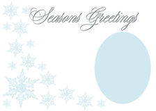 Elegant Seasons Greetings Stock Photo