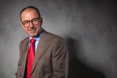 Elegant senior businessman wearing glasses Royalty Free Stock Photo