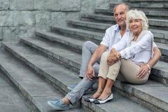 Elegant senior couple Stock Photography
