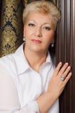 Elegant senior with jewelry Stock Photos
