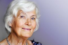 Elegant Senior Lady Stock Photography