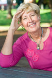 elegant senior woman Stock Photography