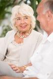 Elegant senior woman Stock Photos