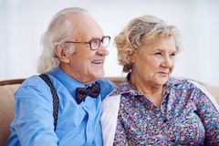 Elegant seniors Stock Images