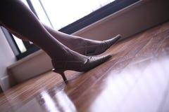 Elegant lady legs and feet Royalty Free Stock Photos