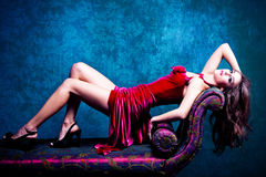 Elegant sensual woman Royalty Free Stock Photography