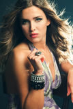 Elegant sensual woman Stock Image