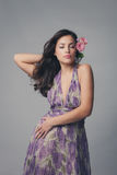 Elegant sensual woman royalty free stock photography