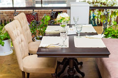 Elegant served table indoors Royalty Free Stock Photography