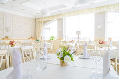 Elegant served table indoors Royalty Free Stock Photo