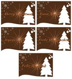 Elegant set of Christmas greeting card in green Royalty Free Stock Image