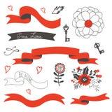 Elegant set of design elements Stock Image