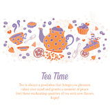 Elegant set of hand drawn tea banners Royalty Free Stock Images