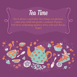 Elegant set of hand drawn tea banners Royalty Free Stock Image