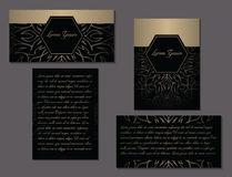 Elegant set of two brochures. Nice hand-drawn vector illustration Royalty Free Stock Photos