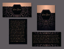 Elegant set of two brochures. Nice hand-drawn vector illustration Royalty Free Stock Photo