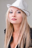 Elegant sexy woman with hat Stock Photo