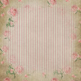 Elegant shabby stripes and roses Royalty Free Stock Photos