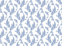 Elegant shape fish repeating pattern. vector illustration of sea Royalty Free Stock Photography