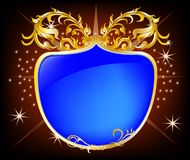 Elegant shield blue background Royalty Free Stock Image