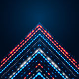 Elegant shiny arrow on a dark blue background. Stock Photography