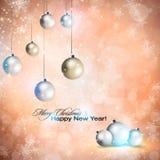 Elegant shiny Christmas background Stock Image