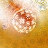 Elegant shiny christmas ball with ribbon. Stock Images