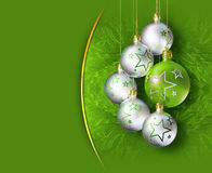 Elegant shiny christmas decoration. Royalty Free Stock Images