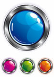 Elegant shiny web button Royalty Free Stock Photos