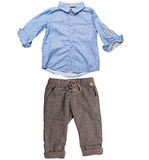 Elegant shirt and trousers for baby boy Royalty Free Stock Photo