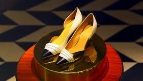 Elegant shoe for ladies royalty free stock image