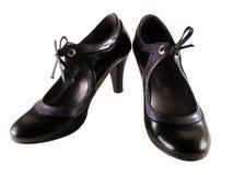 Elegant Shoes. Isolated pair of elegant black shoes Royalty Free Stock Image