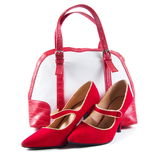 Elegant shoes and the bag Royalty Free Stock Photography