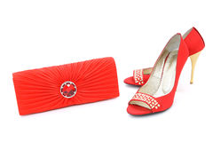 Elegant shoes and purse Stock Images