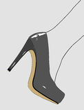 Elegant shoes of a woman. Graphic illustration depicting the shoes of a very elegant woman Royalty Free Stock Photography