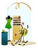 Elegant shopping girl Stock Photo