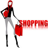 Elegant shopping girl Stock Photo