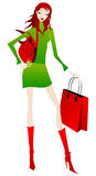 Elegant shopping girl Royalty Free Stock Image