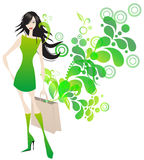 Elegant shopping girl Royalty Free Stock Photo