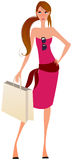 Elegant shopping girl Stock Images