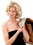 Elegant shopping woman Royalty Free Stock Photos
