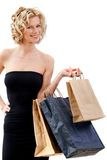 Elegant shopping woman Stock Photos