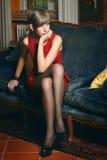 Elegant short hair model Stock Photos