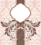 Elegant shower invitation Royalty Free Stock Image