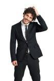Elegant Shy Man Smiling Stock Images