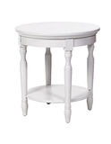 Elegant side table isolated over white, with path stock photography