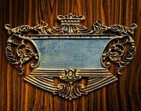 Elegant sign on wood background Stock Image