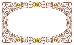 Elegant silhouette frame in art nouveau style Royalty Free Stock Photos