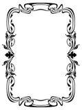 Elegant silhouette frame in art nouveau style Stock Photos